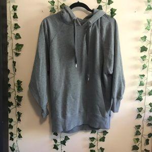 Aerie Oversized Long Gray Sweatshirt